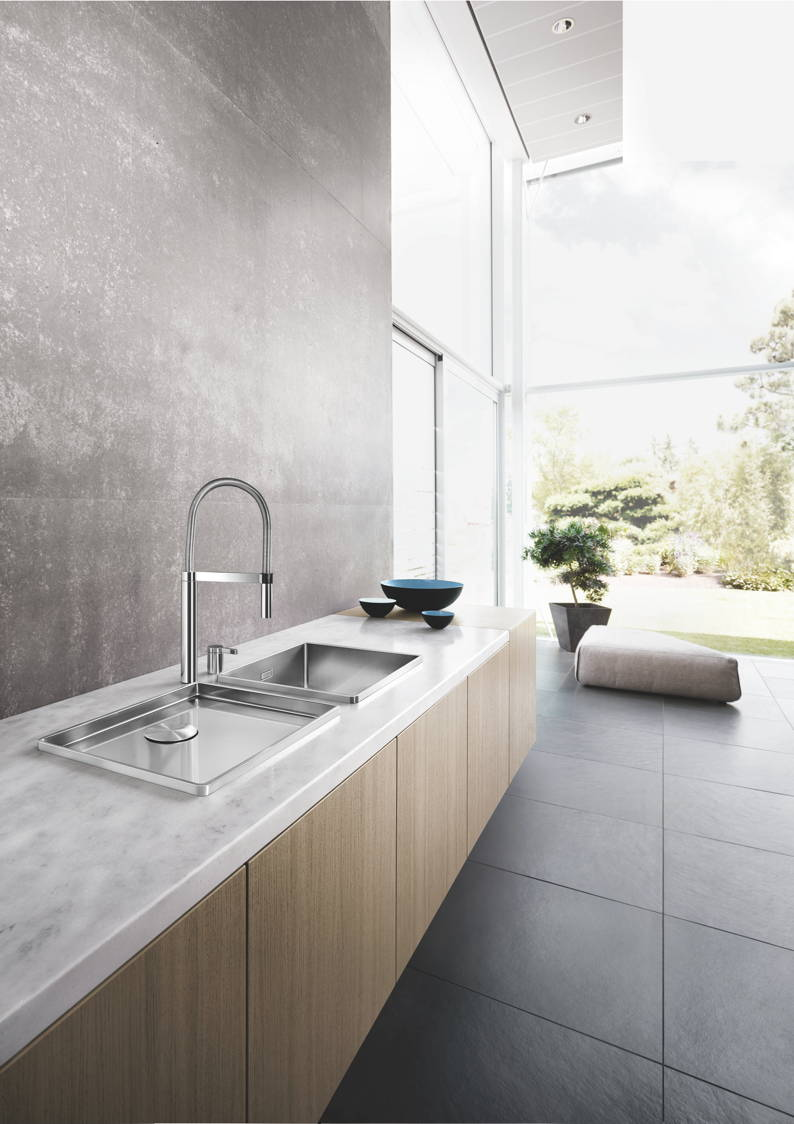 the blancoattika sink perfect for the design focused kitchen the kbzine. Black Bedroom Furniture Sets. Home Design Ideas
