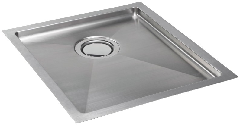 Deca 100 single bowl sink has a matching drainer tray for flushmount ...