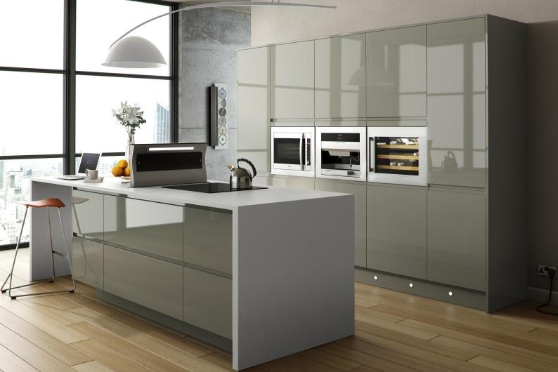 White Acrylic Kitchen Cabinets Revit