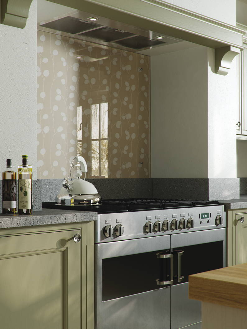 Glass Splashbacks And Upstands In Heritage Colours For