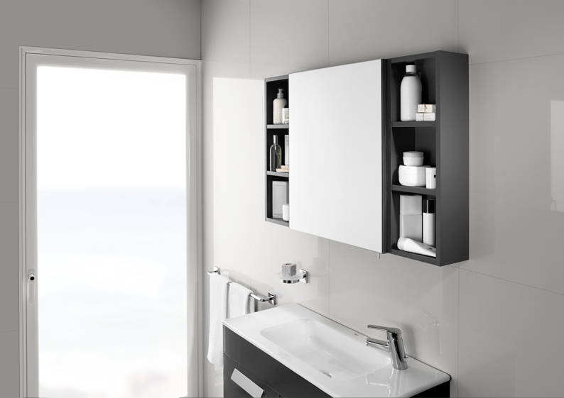 bathroom roca has launched luna a new range of mirrored cabinets