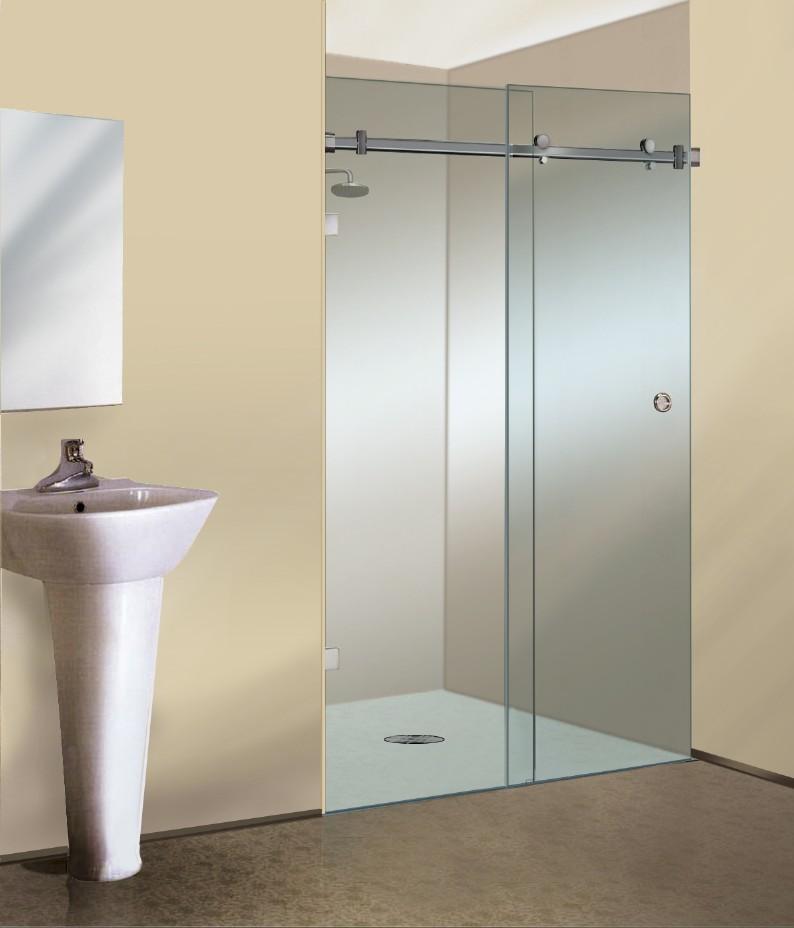 Crls New Serenity Sliding Frameless Shower Door Appears To Float