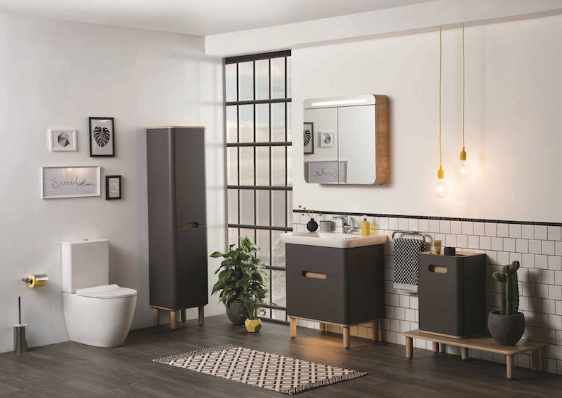 VitrA has launched a brand-new collection of stylish, wall hung bathroom furniture to complement the existing Sento Wall-hung WC.