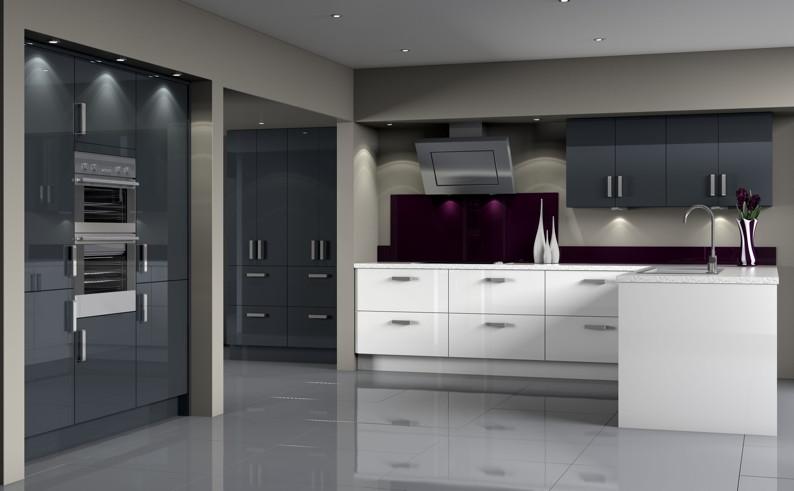 Symphony Evolves Gallery Kitchen Collection The KBzine - Anthracite grey kitchen units